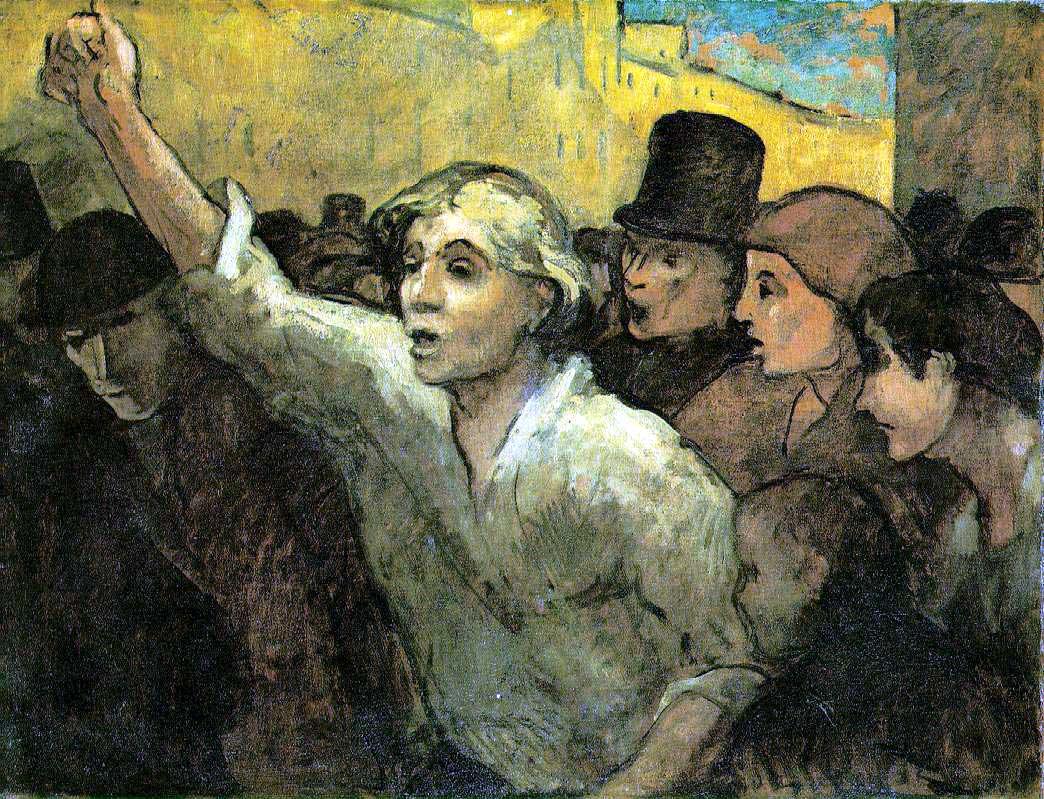 Honoré Daumier, The Uprising