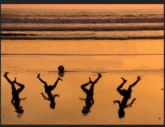 Four Boys on a Gaza Beach
